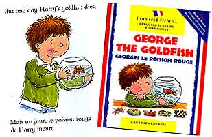 George the Goldfish - bilingual story, English / French