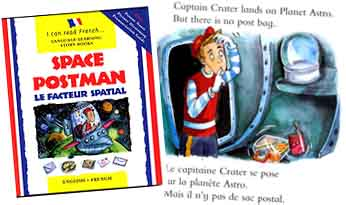 Space Postman - - bilingual story, English / French