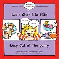 Lucy Cat at the Party - French-English bilingual book