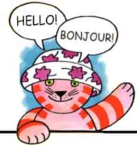 Lucy Cat books and whiteboard resources for primary French