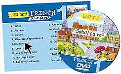 Early Start Primary French DVD menu