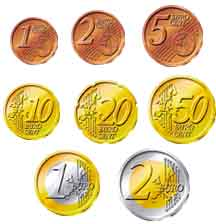 EURO coins - playmoney
