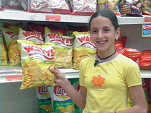 Spanish girl: I like crisps