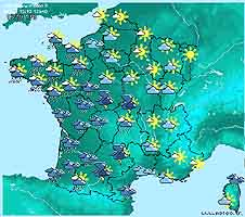 Map Of France Weather.Early Start French 2 Chapter 7